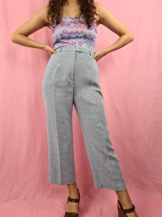 pantalon à pince bleu pastel chiné (2)
