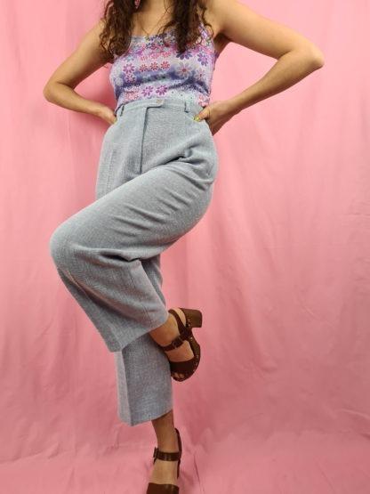 pantalon à pince bleu pastel chiné (3)