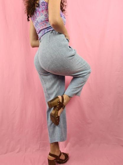 pantalon à pince bleu pastel chiné (5)