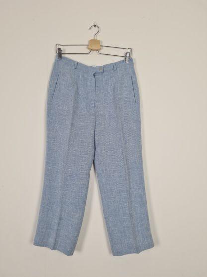 pantalon à pince bleu pastel chiné (6)
