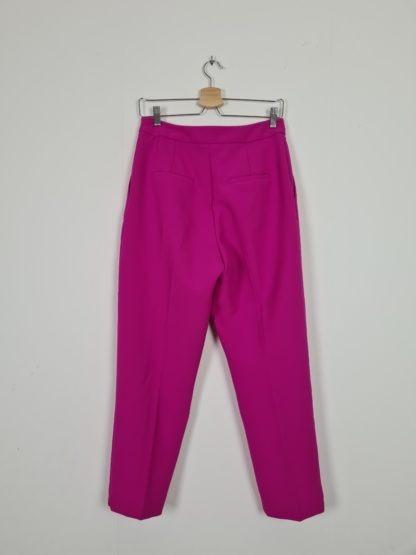 pantalon à pince fushia (3)