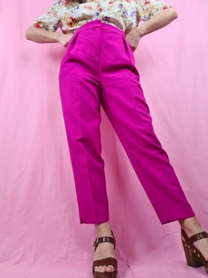 pantalon à pince fushia (4)