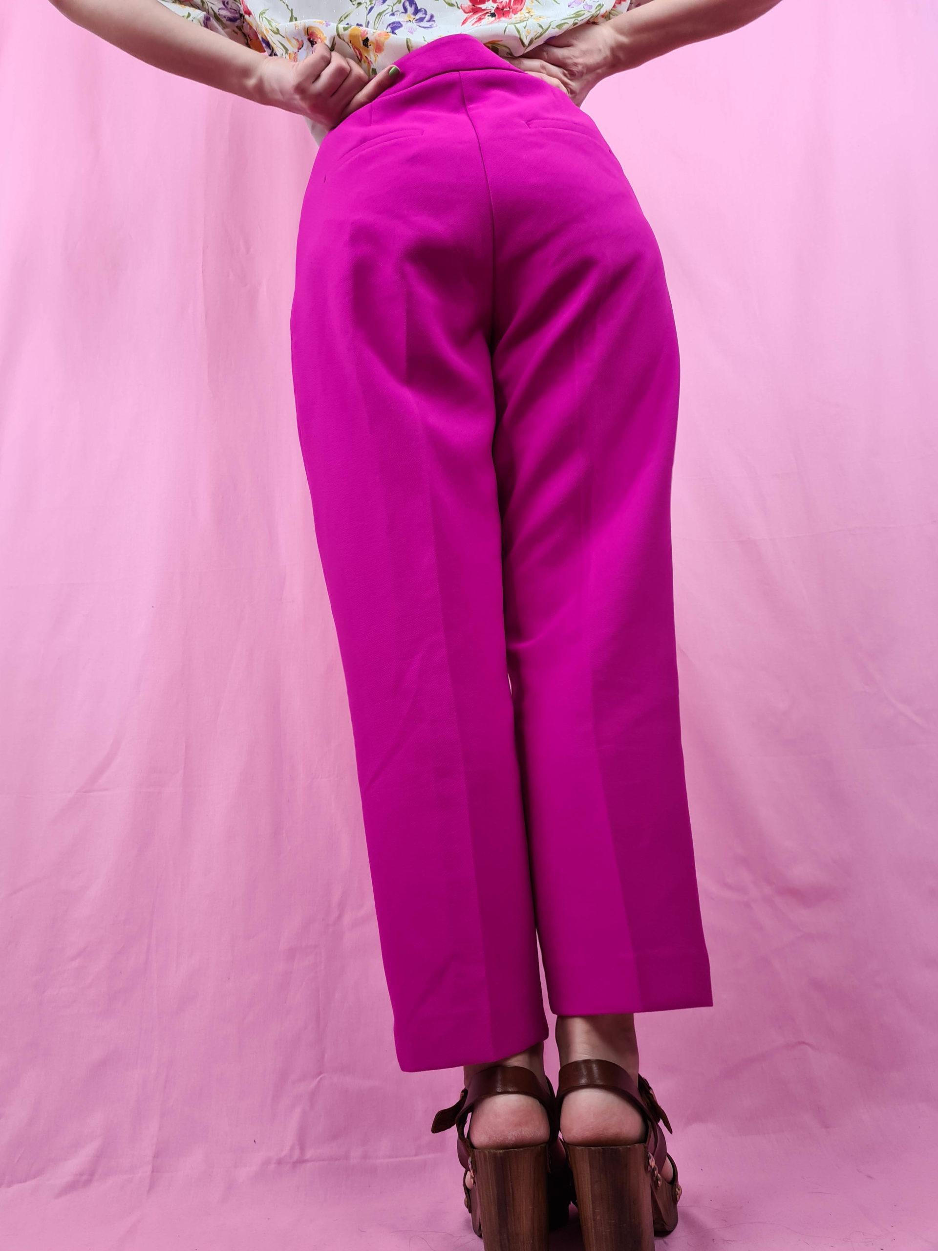 pantalon à pince fushia (5)