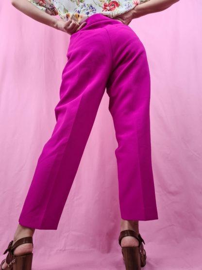 pantalon à pince fushia (6)