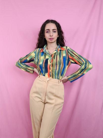 pantalon à pince jaune pastel (1)