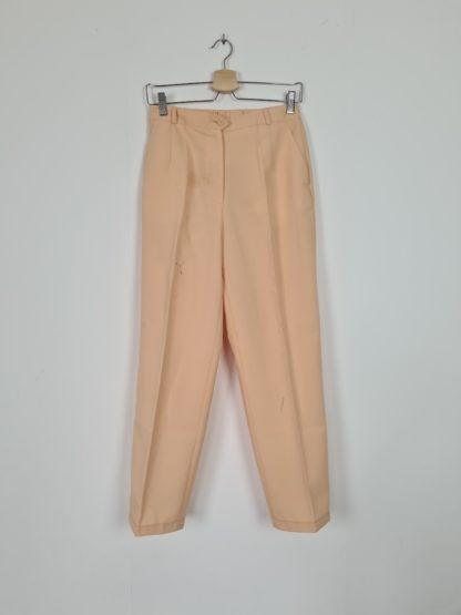 pantalon à pince jaune pastel (2)