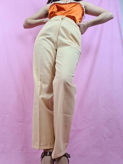 pantalon à pince jaune pastel (4)