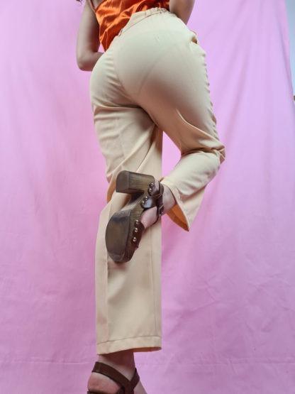 pantalon à pince jaune pastel (5)