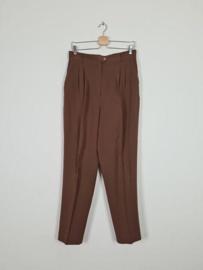 pantalon à pince marron (6)