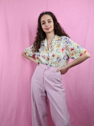 pantalon à pince rose pastel (1)