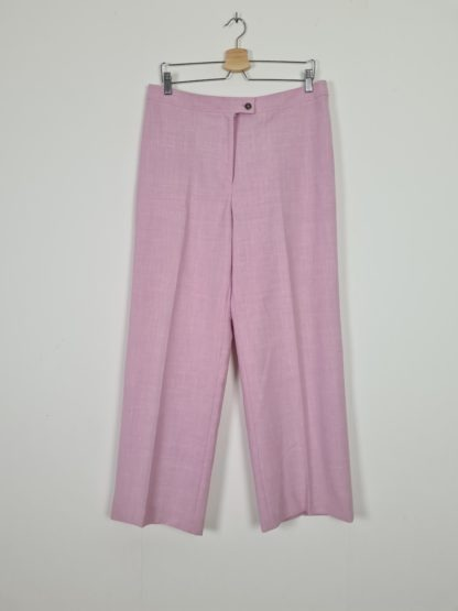 pantalon à pince rose pastel (2)