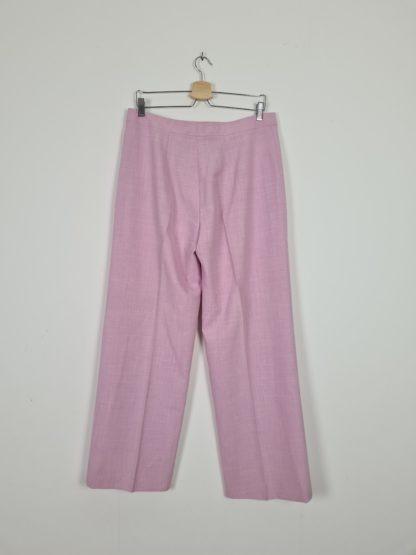 pantalon à pince rose pastel (4)