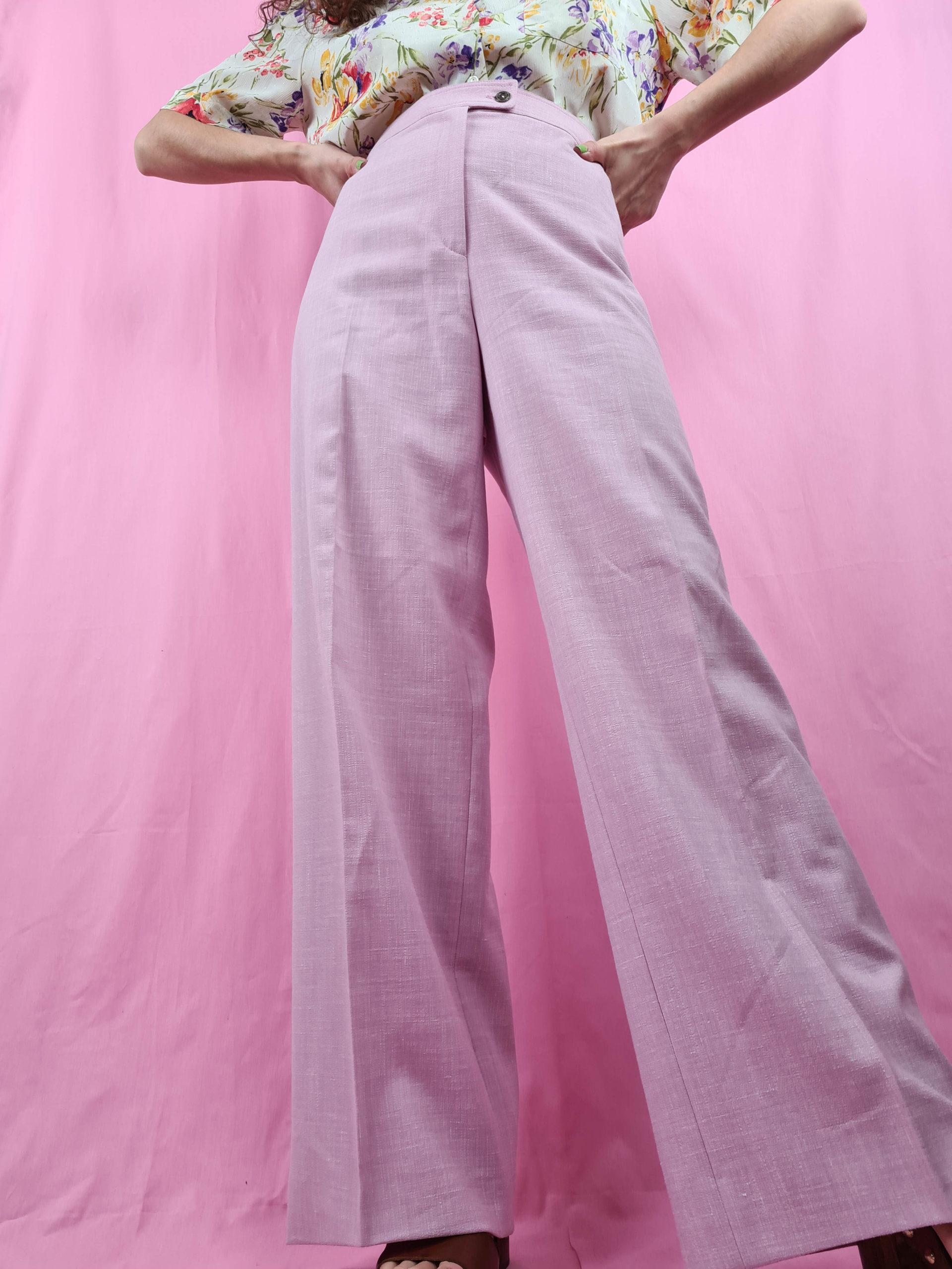 pantalon à pince rose pastel (5)