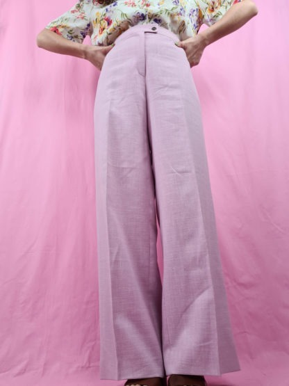 pantalon à pince rose pastel (6)