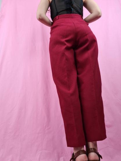 pantalon à pince rouge foncé (1)