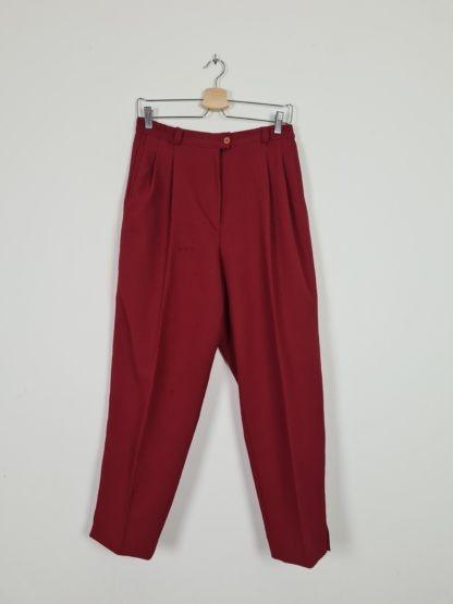 pantalon à pince rouge foncé (3)