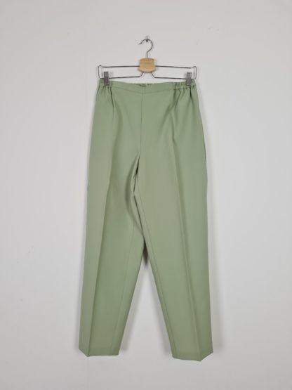 pantalon à pince vert anis (6)