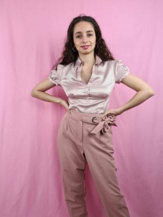 pantalon fluide vieux rose (1)