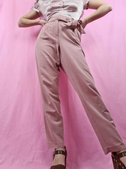pantalon fluide vieux rose (2)