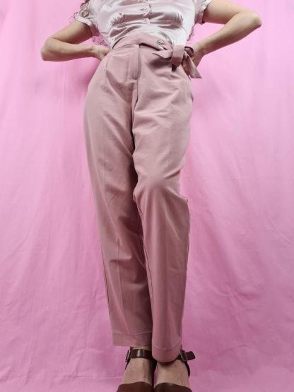 pantalon fluide vieux rose (3)