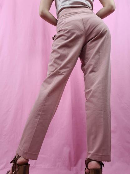 pantalon fluide vieux rose (4)