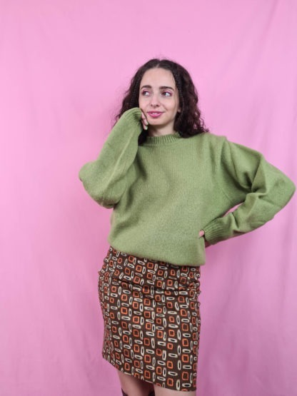 pull col montant vert anis (1)