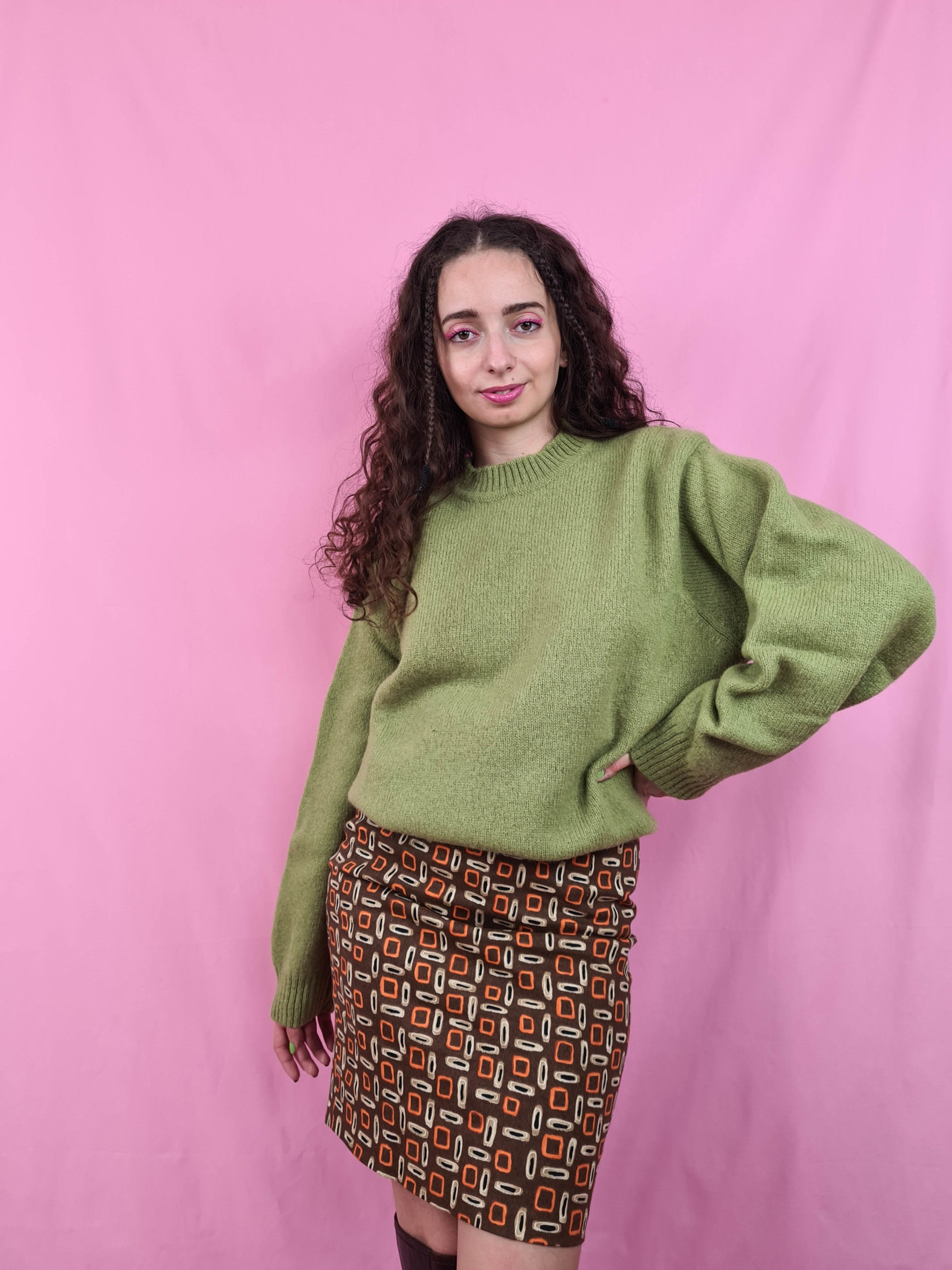 pull col montant vert anis (4)