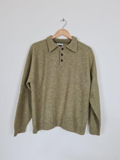 pull vert col bouton (7)