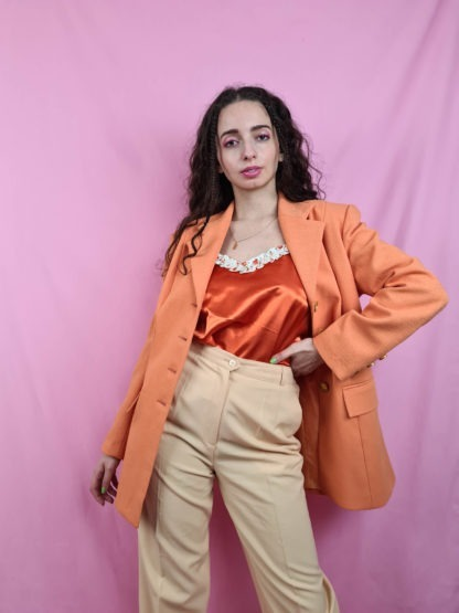 veste blazer orange (1)