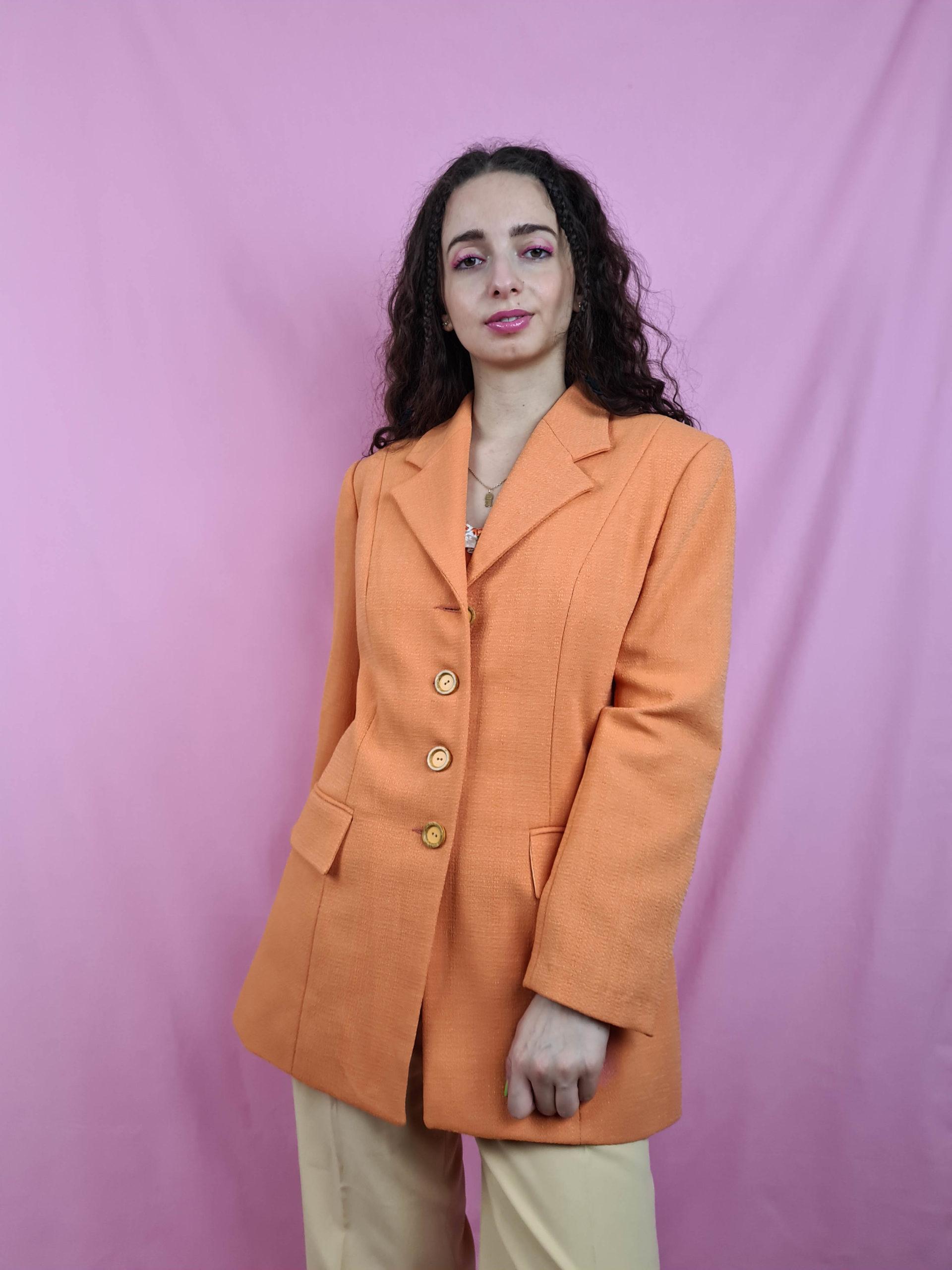 veste blazer orange (4)