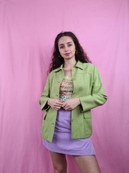 veste mi-longue vert anis (2)