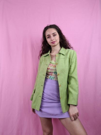 veste mi-longue vert anis (3)