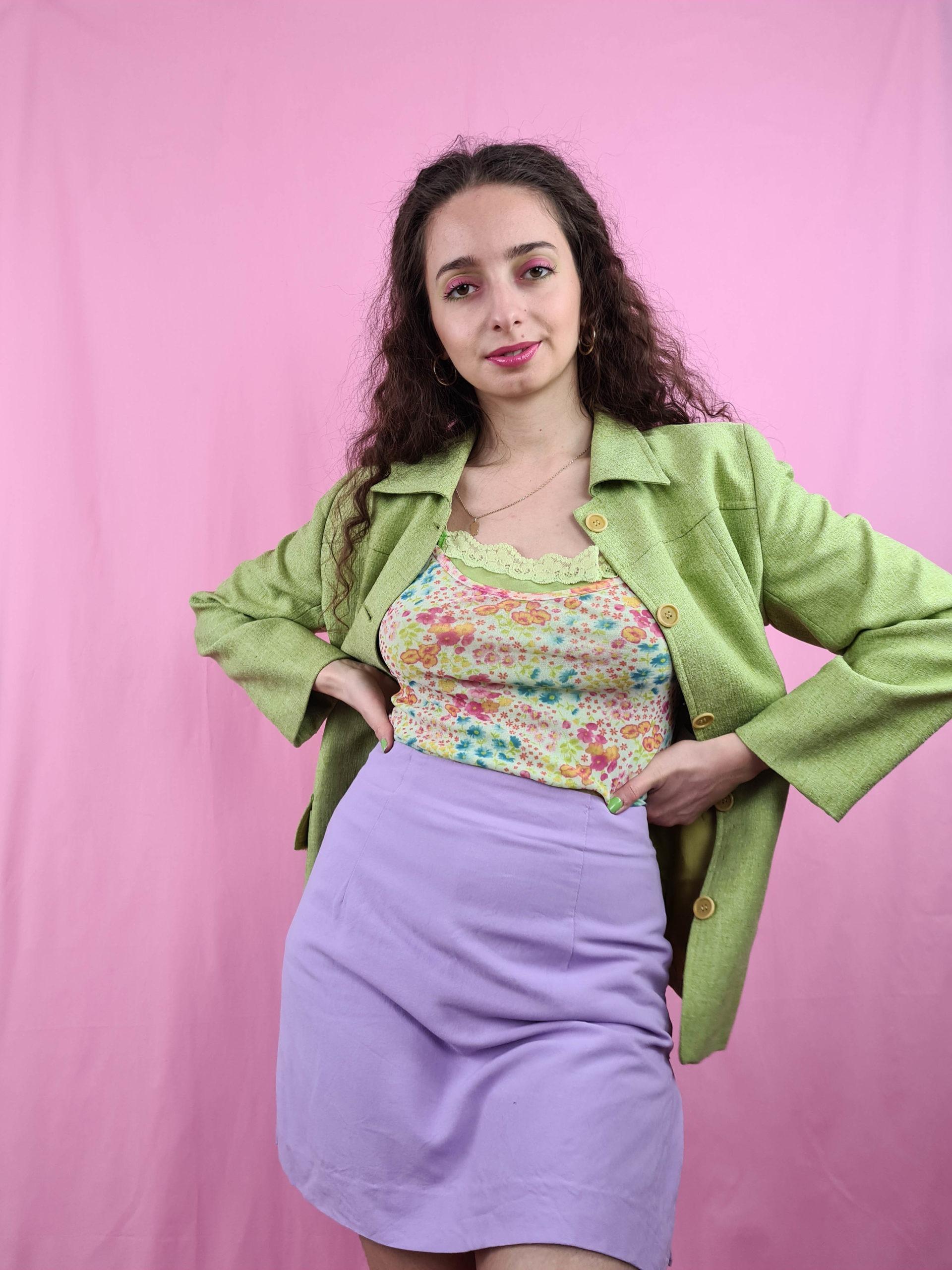 veste mi-longue vert anis (5)