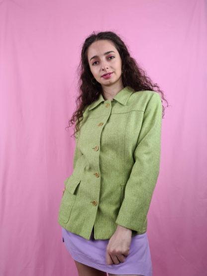 veste mi-longue vert anis (7)