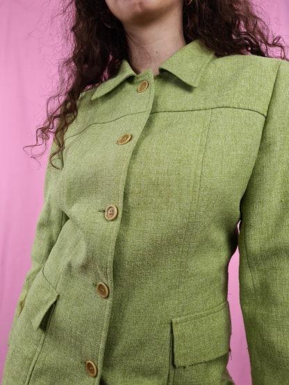veste mi-longue vert anis (8)