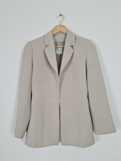 veste vert anis vintage mi-longue (5)