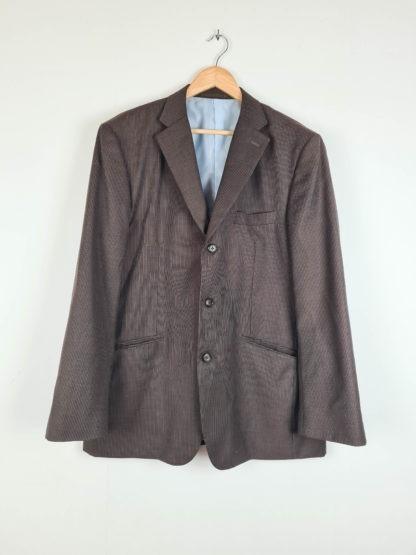blazer homme marron à rayures verticales (2)
