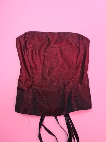 bustier rouge dégradé noir (11)