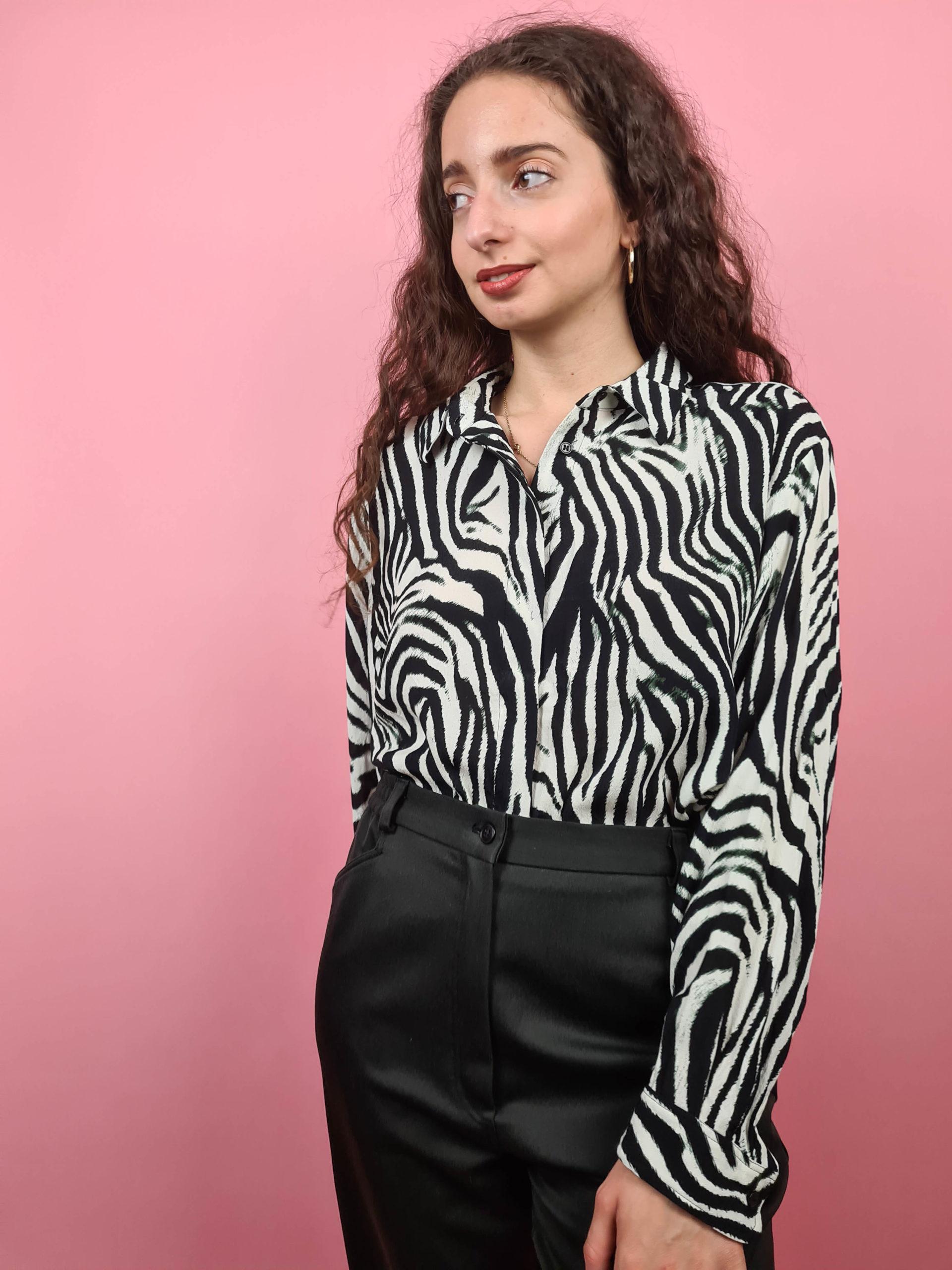 chemise à motif zèbre (4)