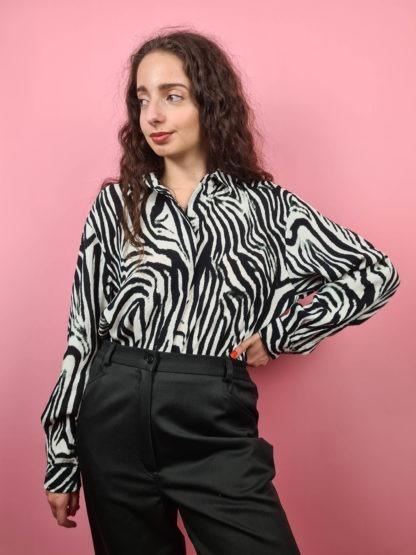 chemise à motif zèbre (6)