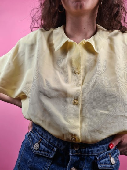 chemise jaune pastel vintage (4)