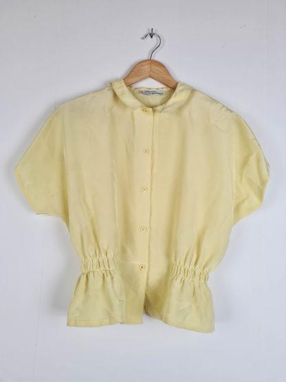 chemise jaune pastel vintage (6)