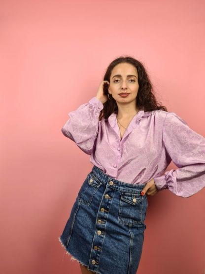 chemise rose à motif vintage (2)