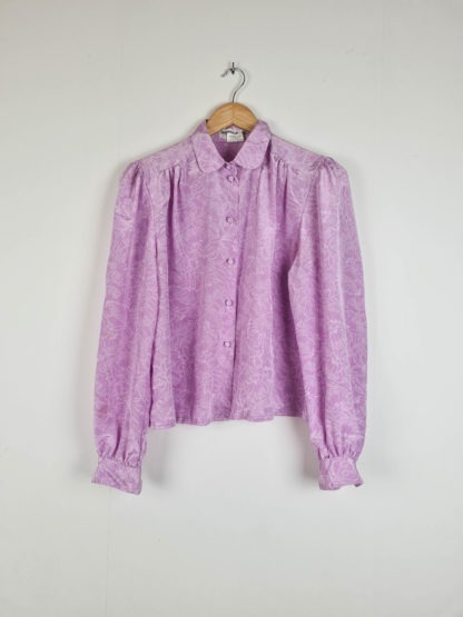 chemise rose à motif vintage (7)