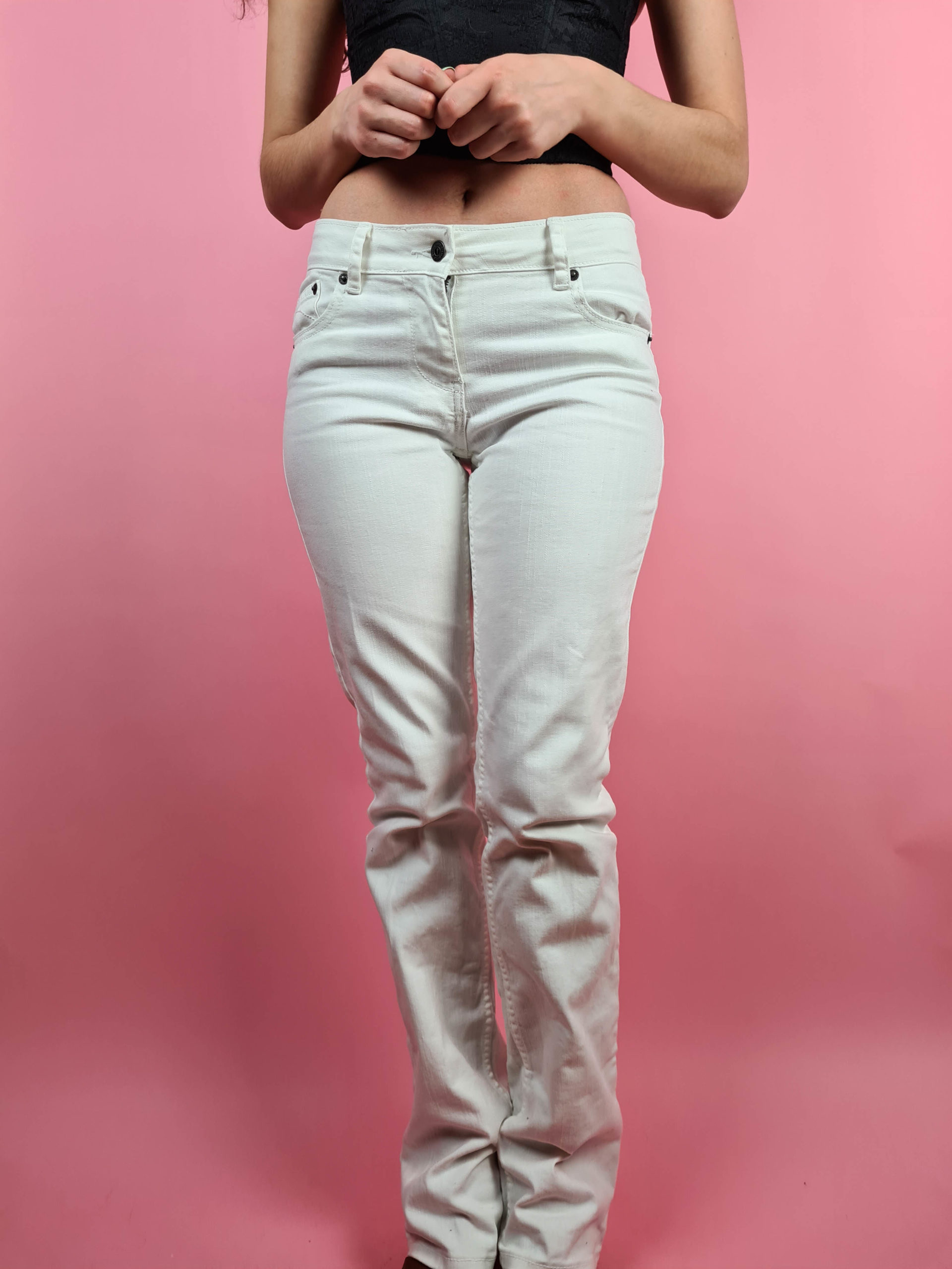 jean blanc taille basse (7)