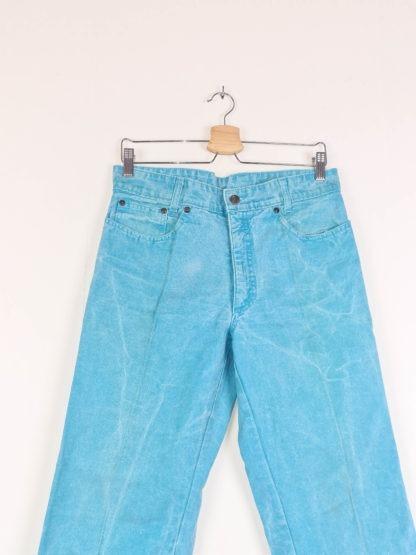 jean mom bleu turquoise (3)