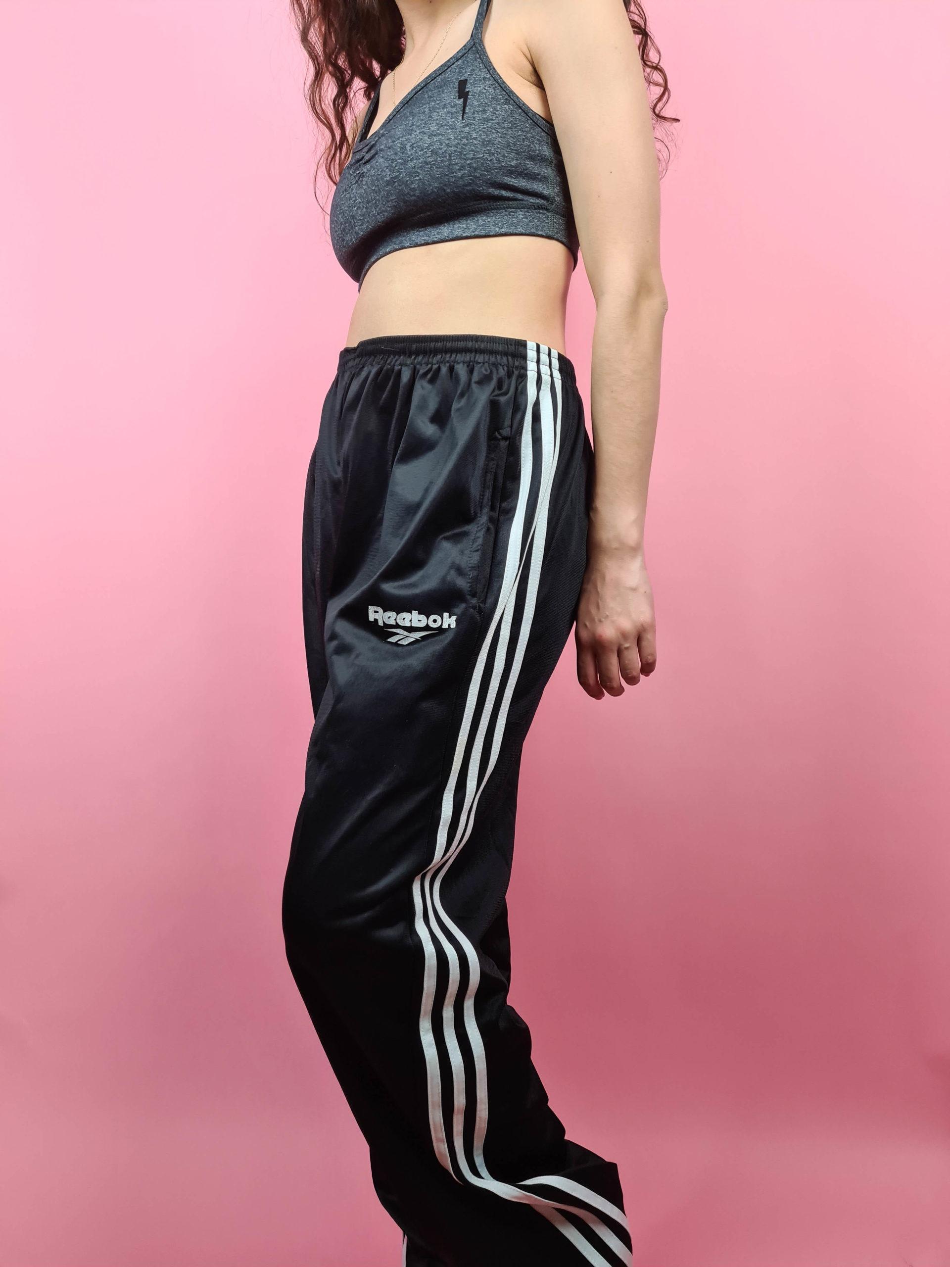 jogging noir reebok bandes blanches (2)