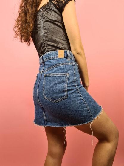 jupe en jean à boutons (1)