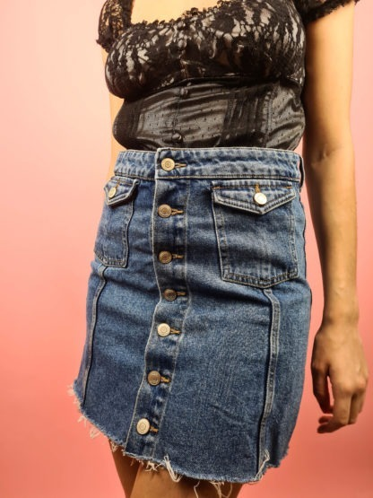 jupe en jean à boutons (3)