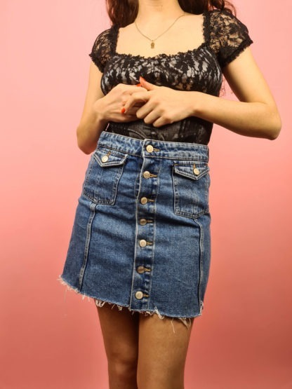 jupe en jean à boutons (6)